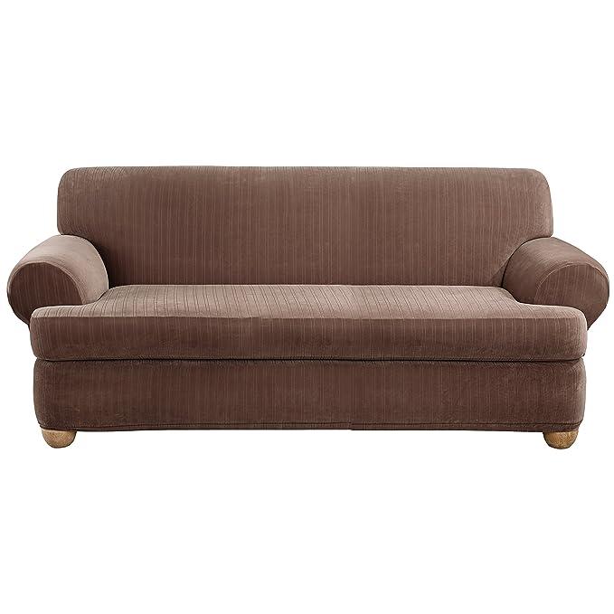 Amazon.com: Sure Fit - Funda elástica para sofá , Algodón ...