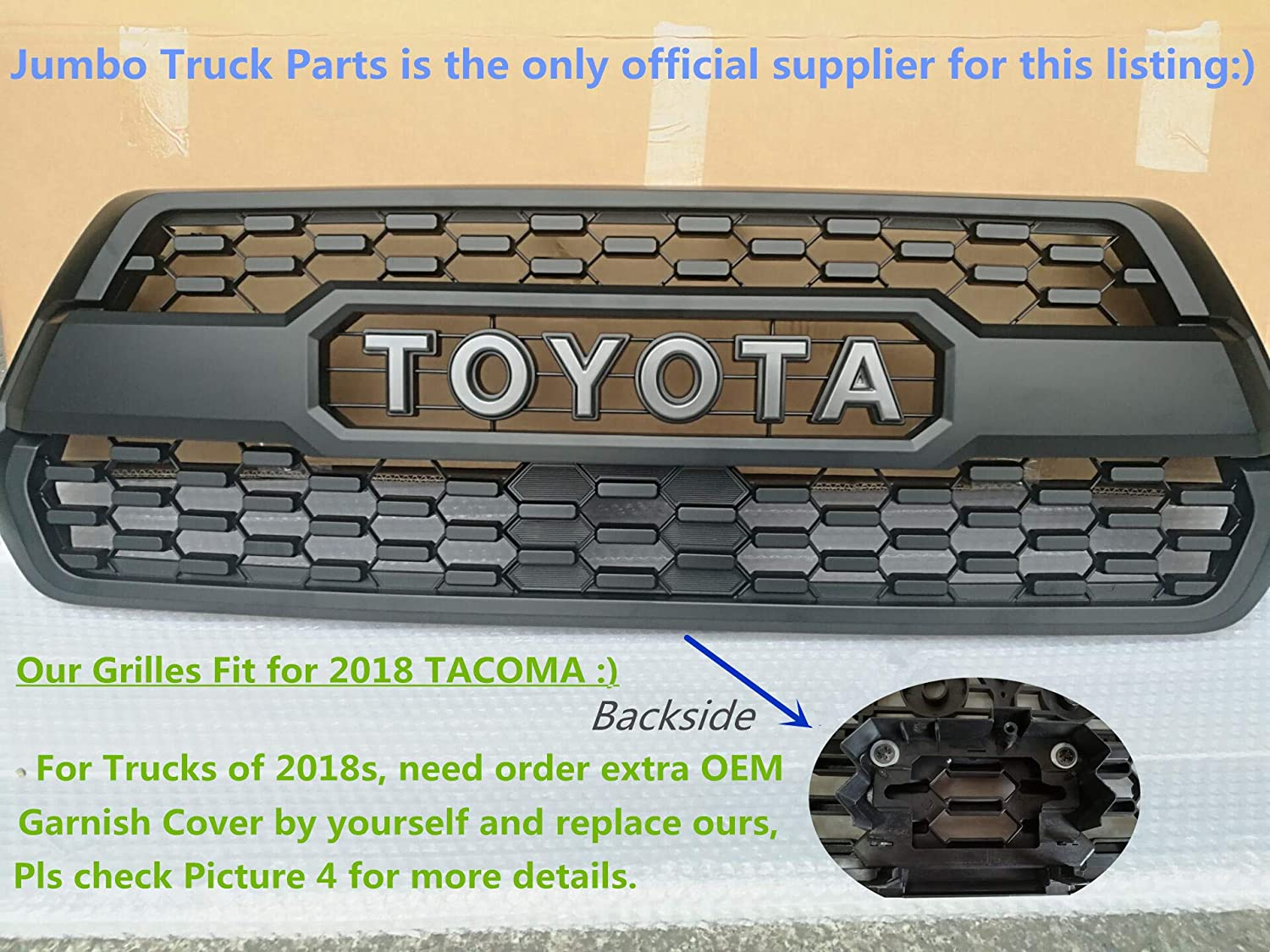 Amazon Tacoma Trd Pro Grille Matte Black Fit For Toyota Tacoma