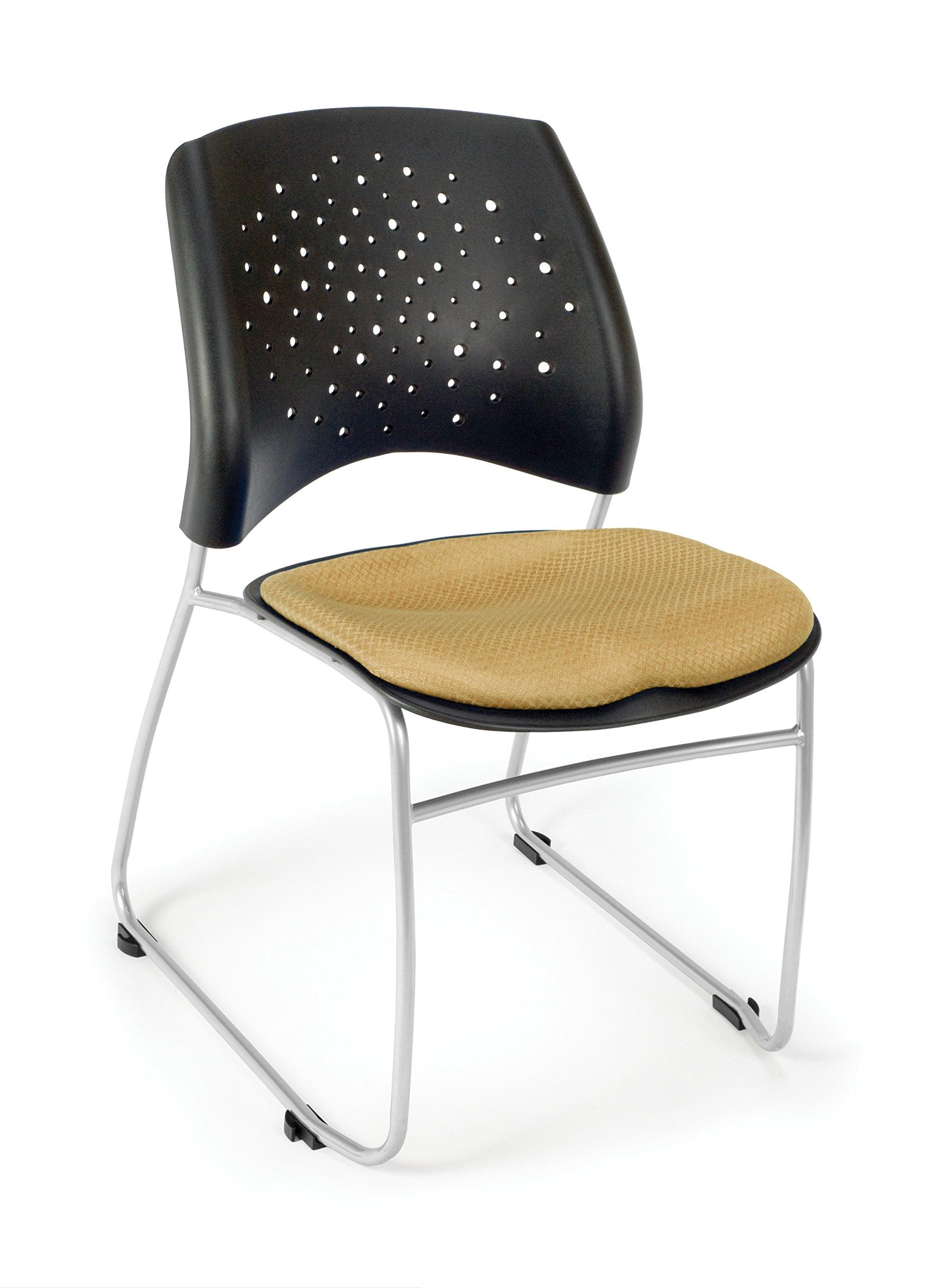 OFM Stars Series Armless Fabric Swivel Chair, Golden Flax