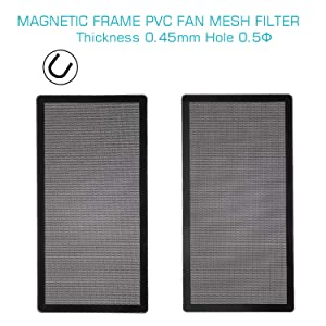 280mm 140mm x 2 PC Fan Dust Mesh Filter Magnetic Frame PVC Computer PC Case Fan Dust Proof Filter Cover Grills Black 2-Pack (Color: 287*147MM 2PACK, Tamaño: 287*147MM 2PACK)