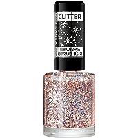 Rimmel London Glitter Nail Polish Top Coat, Disco Diva, 8 ml