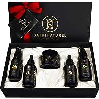 Set Regalo Mujer Cuidado del Cuerpo ORGÁNICO Natural 5x30 ml – Manteca de Karite, Aceite de Argan, Aceite de Jojoba…
