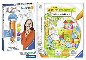 TipToi Ravensburger Escuela Libro | Preescolar Saber - Mein Aprendizaje de Parte de Aventura + Ravensburger 007004 lápiz Reproductor: Amazon.es: Juguetes y ...