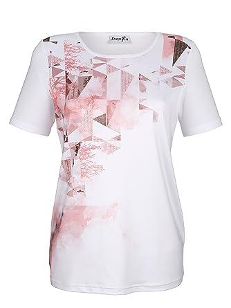 4b39df2c84a7ca Dress in Damen Shirt mit Grafischem Druck  Amazon.de  Bekleidung