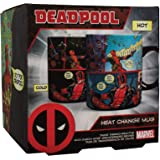 Paladone Products D18681E2F1 LAMPARA MARVEL DEADPOOL LOGO, Cerámica
