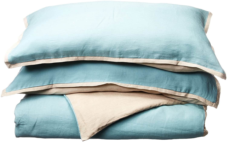 Harbor House Linen Mini Duvet Cover Set Blue King