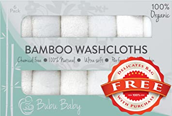 ae7d23e16 Amazon.com : Bamboo Baby Soft Organic Washcloth Towels for Babies : Baby