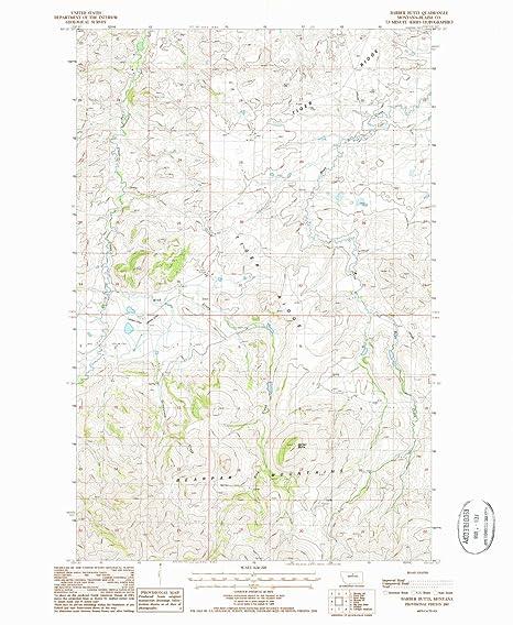 Amazon.com : YellowMaps Barber Butte MT topo map, 1:24000 Scale, 7.5 ...