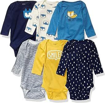 Gerber Baby Boys' 6-Pack Long-Sleeve Onesies Bodysuit