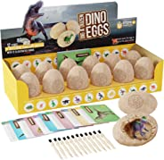 Dig a Dozen Dino Eggs Kit - Break Open 12 Unique Dinosaur Eggs and Discover 12 Cute Dinosaurs - Easter Archaeology Science S