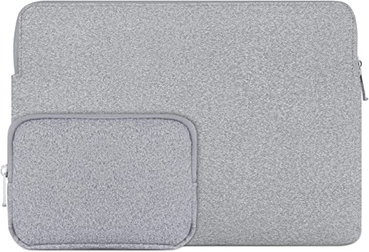 Megoo 12Inch Slim Leather Sleeve Case Pouch Water Resistant for Surface Pro X//7//6//5//4//3 12.3 and Most 10-10.5-11-11.6-12 Macbook//iPad//Dell//Acer Chromebook Tablet Laptop Dark Gray With Charger Case