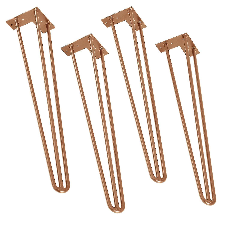 3 Varillas 15 cm Negro en.casa Hairpin Legs /® Set de 4 Patas de Acero robustas