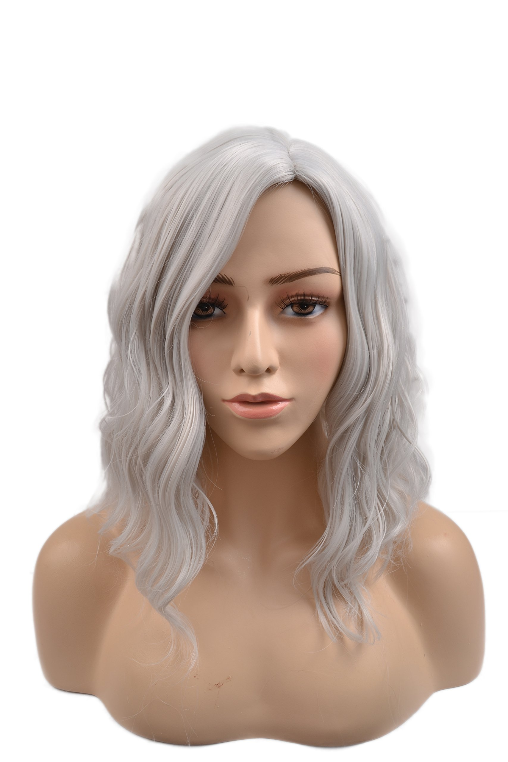 Black Clearance Women Long Wavy Human Hair for Black Women Synthetic Curly Lace Front Full Wigs Cosplay Costume Party Female Side Part Wig