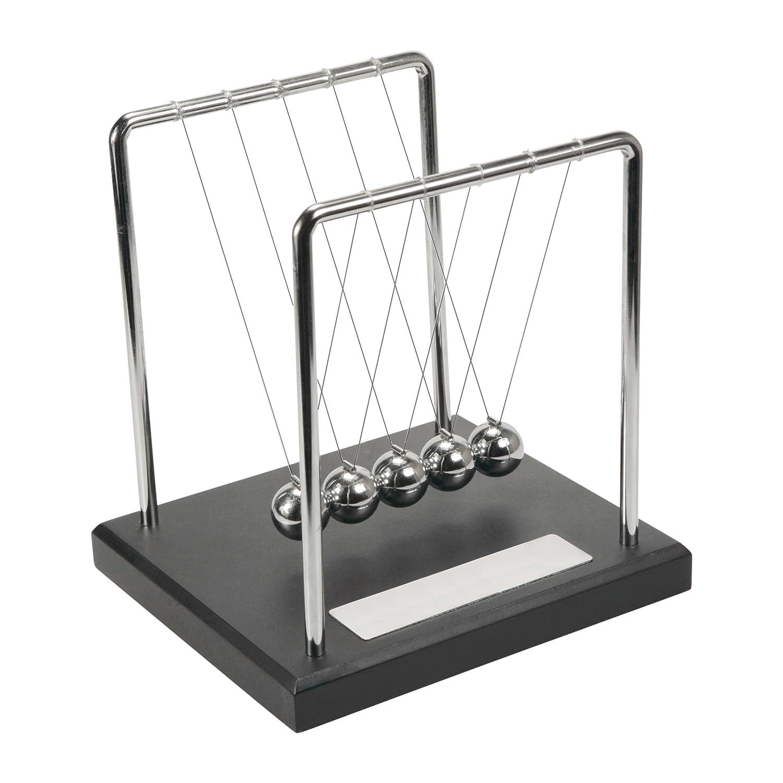 Kugelspiel mit Sockel und Namensgravur Newton Kugelsto/ßpendel mit Gravurplatte