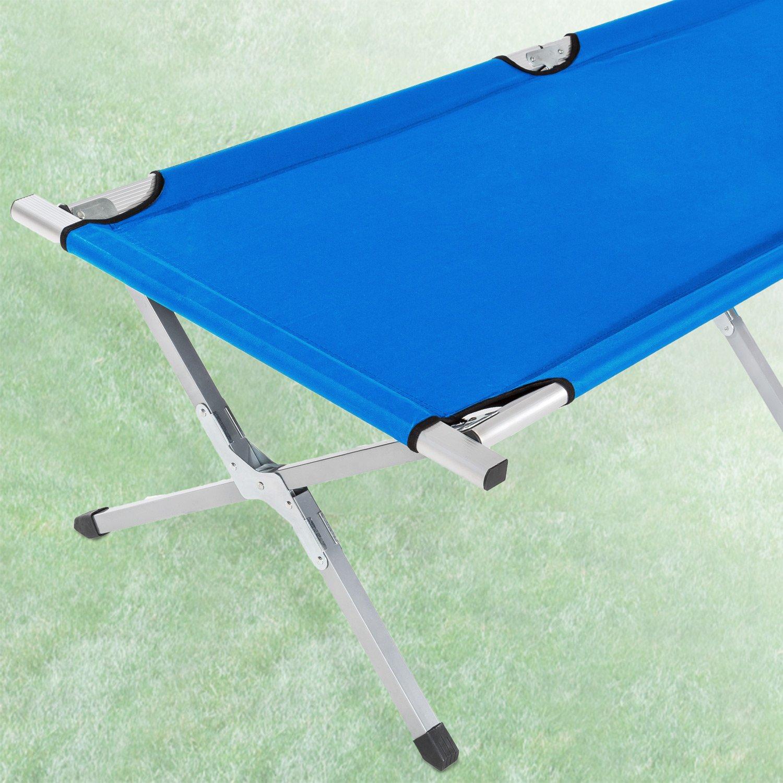 bolsa para transporte TecTake Cama de camping XL plegable capacidad de 150 kg 2x Azul | No. 402002 disponible en diferentes colores y varias cantidades -