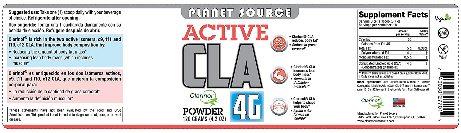 Amazon.com: Active Cla (Clarinol) 4 G Polvo: Health ...