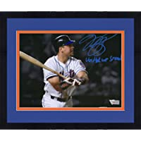 "$239 » Framed Mike Piazza New York Mets Autographed 8"" x 10"" September 21, 2011 Home Run Spotlight Photograph with""United We Stand"" Inscription…"