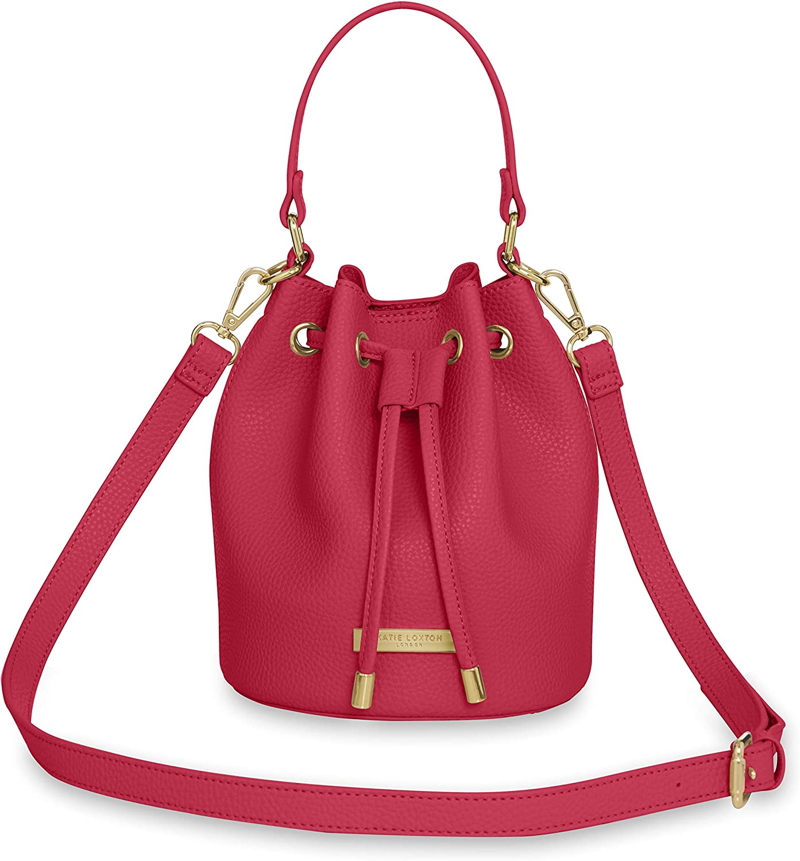 Katie Loxton Mini Chloe Bucket Women's Vegan Leather Shoulder Drawstring Handbag