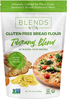 Blends By Orly GF pan harina - Gluten harina libre - para hornear harina para pan, corteza de la Pizza, Focaccia y Pasta - 20Oz…