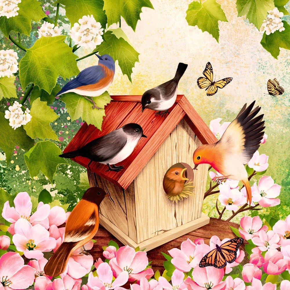 20 Servietten Cottage 1 Packung OVP Motivservietten Land Haus Teich Reet Vögel B