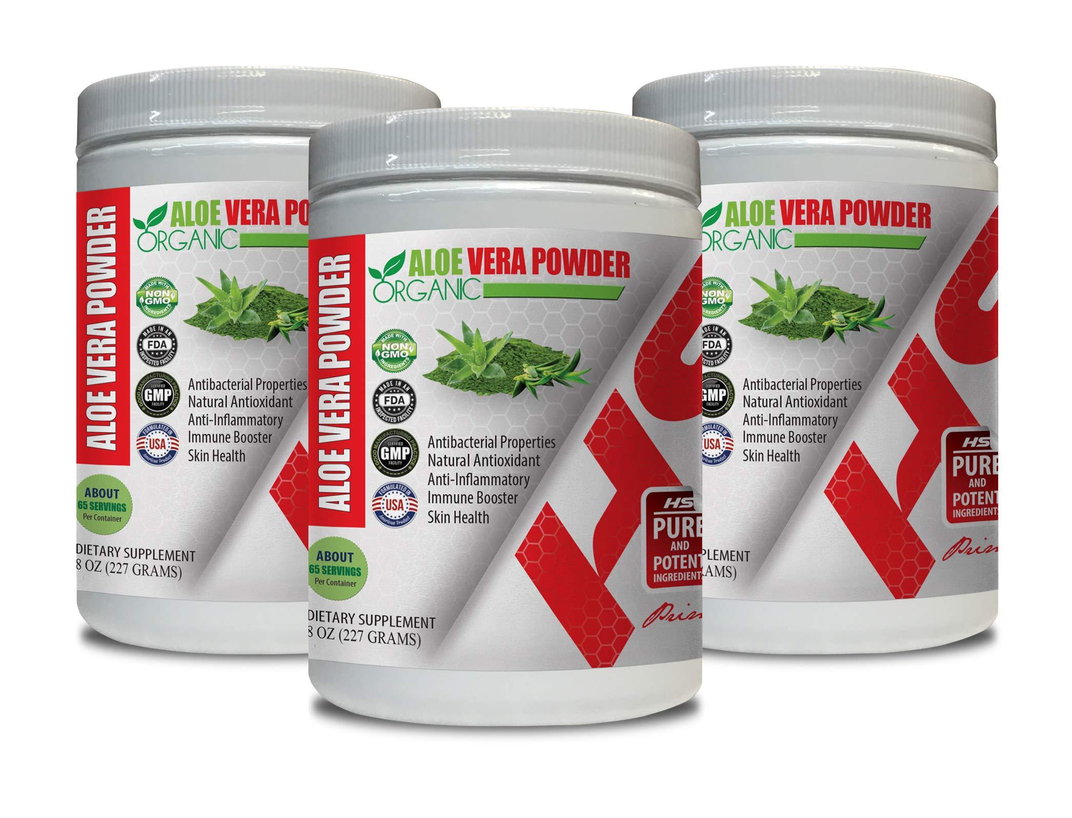 antioxidant Vitamins for Women - Aloe Vera Organic Powder - Aloe Vera Vitamins Organic for Men - 3 Cans 24 OZ (195 Servings)