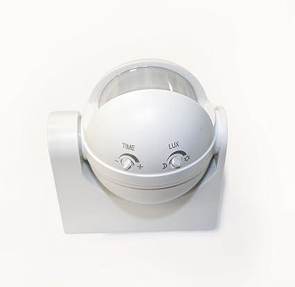 Detector de presencia/movimiento de pared , rango de detección 180º y 12 metros.