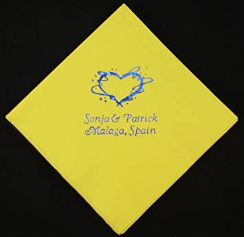 amazon com 500 personalized beverage napkins wedding napkins custom