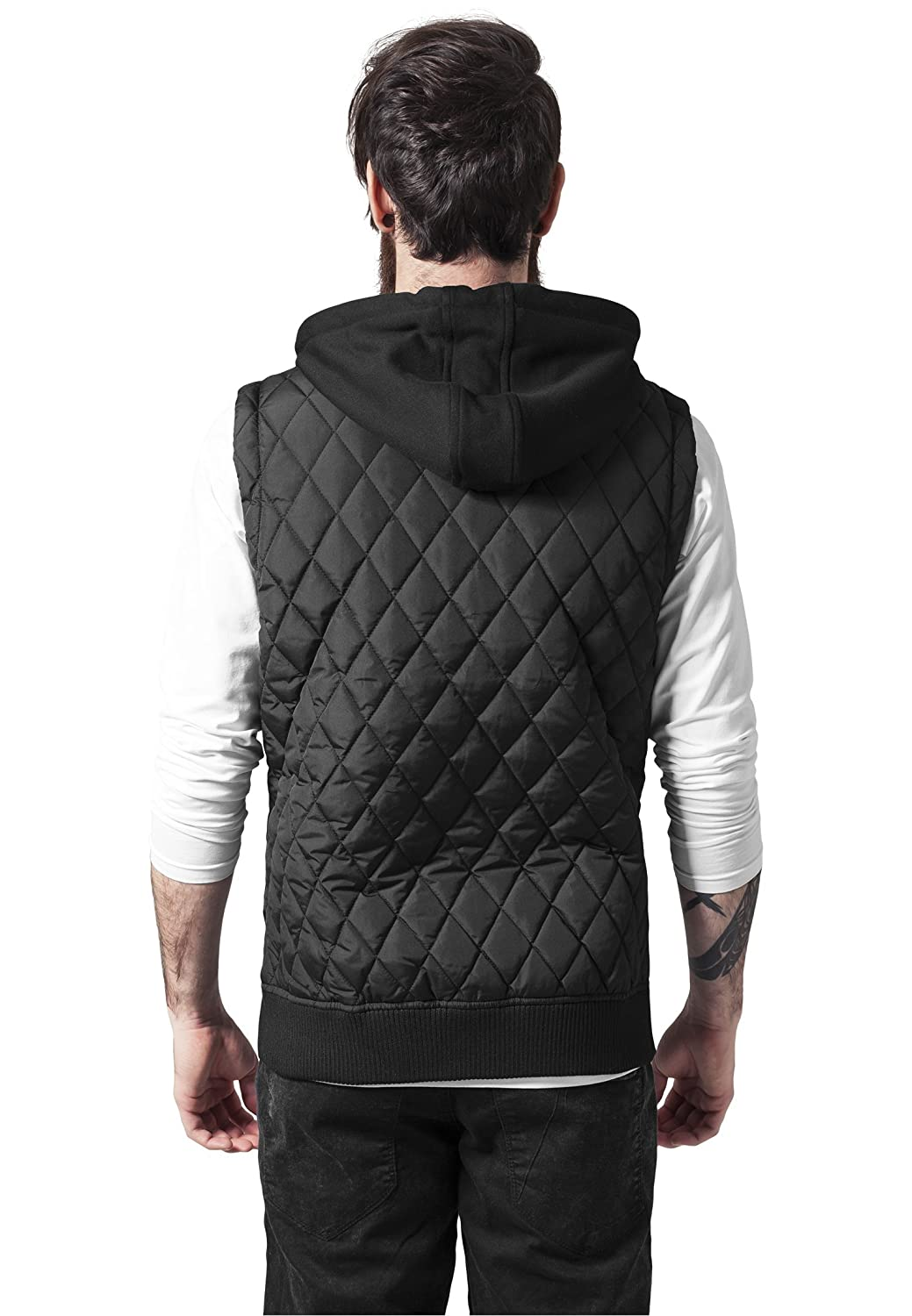 Urban Classics Diamond Quilted Hooded Vest Streetwear Robe Homme
