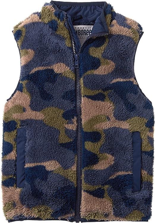Gymboree Boys Little Fuzzy Camo Fleece Vest