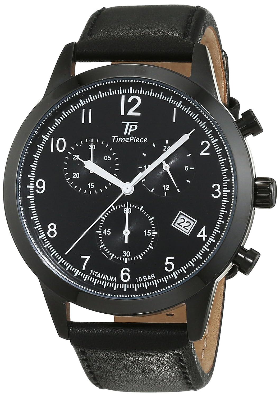 Time Piece Herren-Armbanduhr Titan Chronograph Quarz Leder TPGT-50344-22L