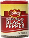 Tone's Mini's Pepper, Black Coarse, 0.60 Ounce (Pack of 6)