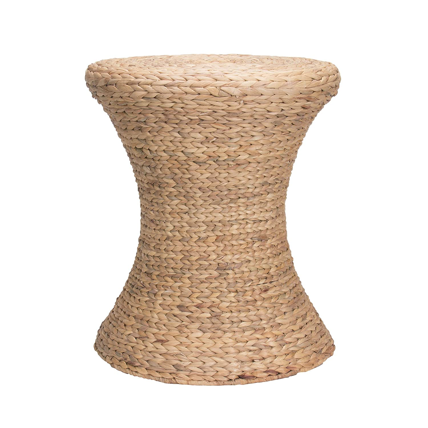 Amazon.com: Household Essentials Hourglass Water Hyacinth Wicker Table:  Kitchen U0026 Dining