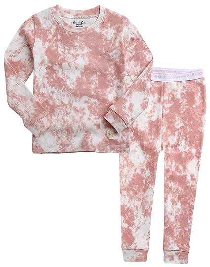 1699606c7 Vaenait baby Kids Girls 100% Cotton Sleepwear Pajamas 2pcs Set Prisim Pink  XS