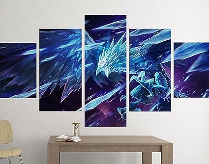 Anivia - 5 Piece Canvas | League of Legends Canvas Wall Art ...