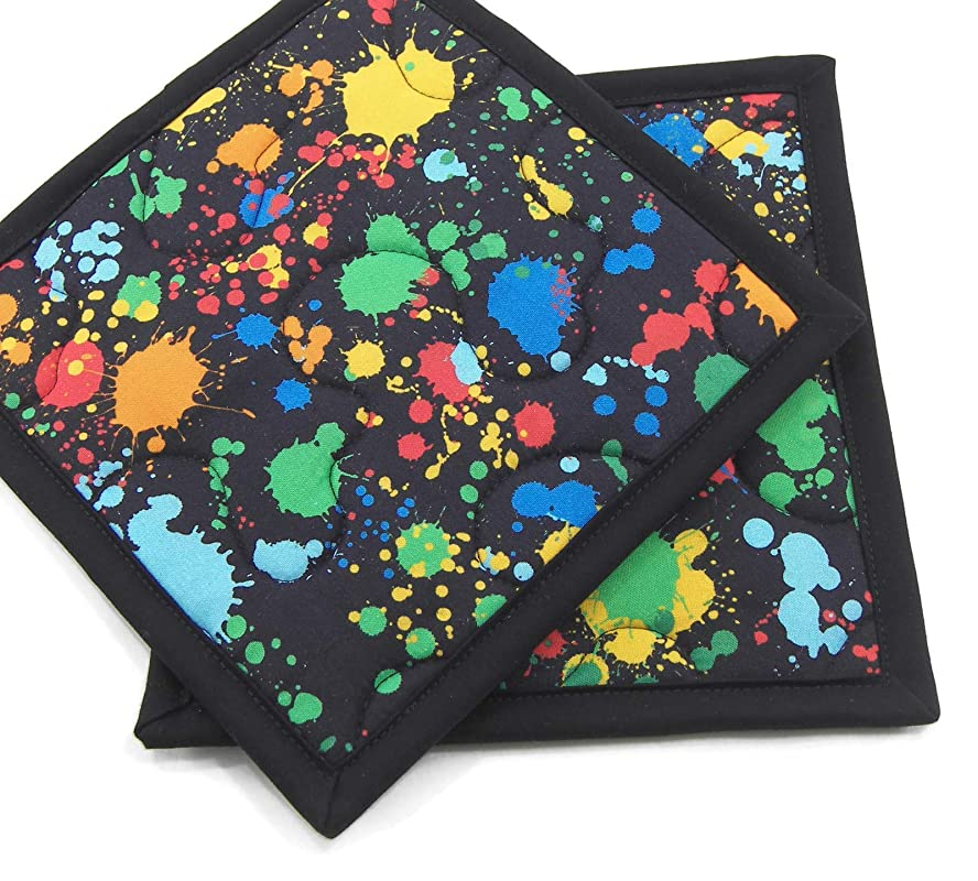 One color CHOOSE YOUR COLORS two-tone or multi-colored Pot Holder
