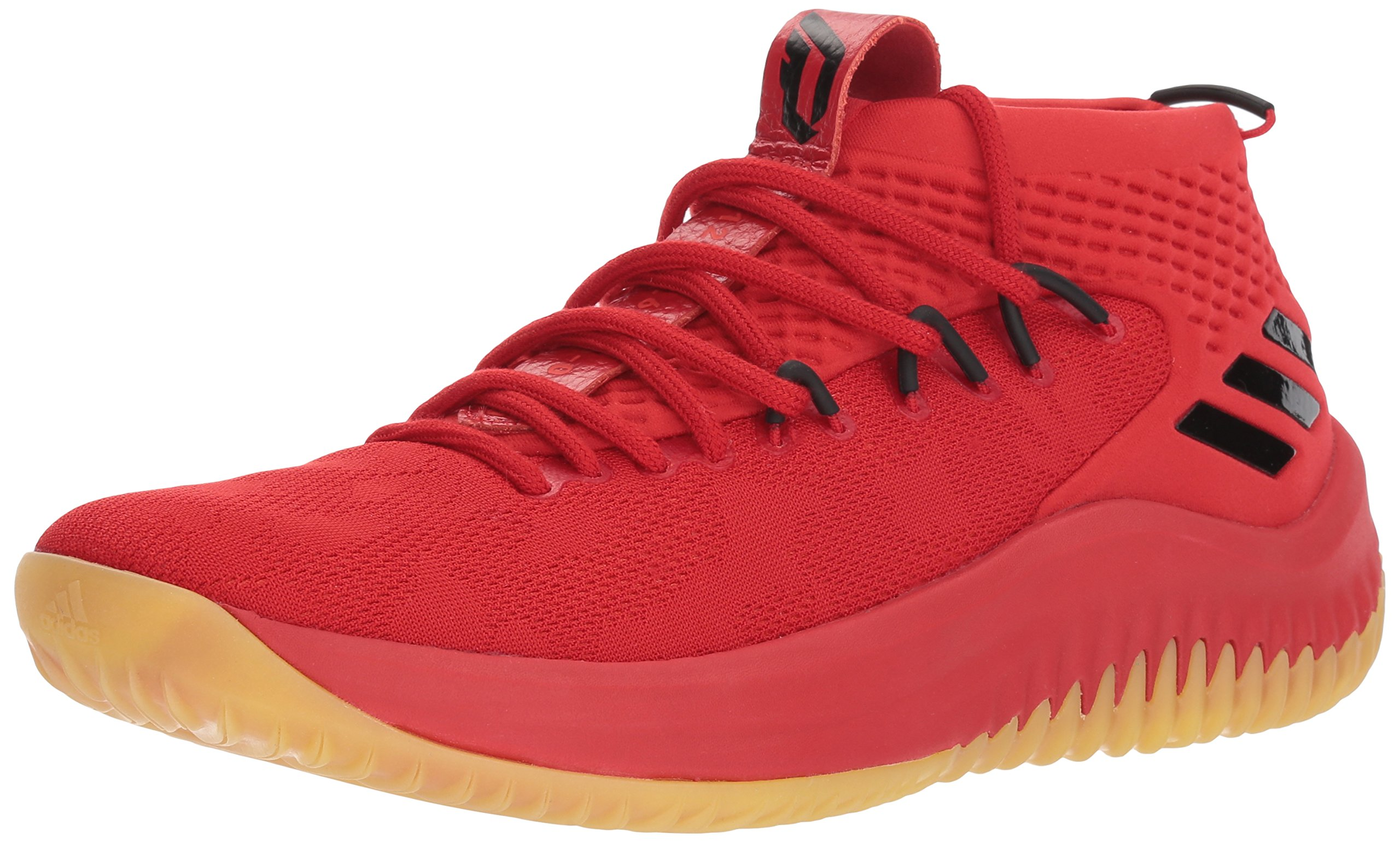 adidas Performance Dame 4 Shoe Men's Basketball, Scarlet/Hi-res Red/Core Black, 12 M US