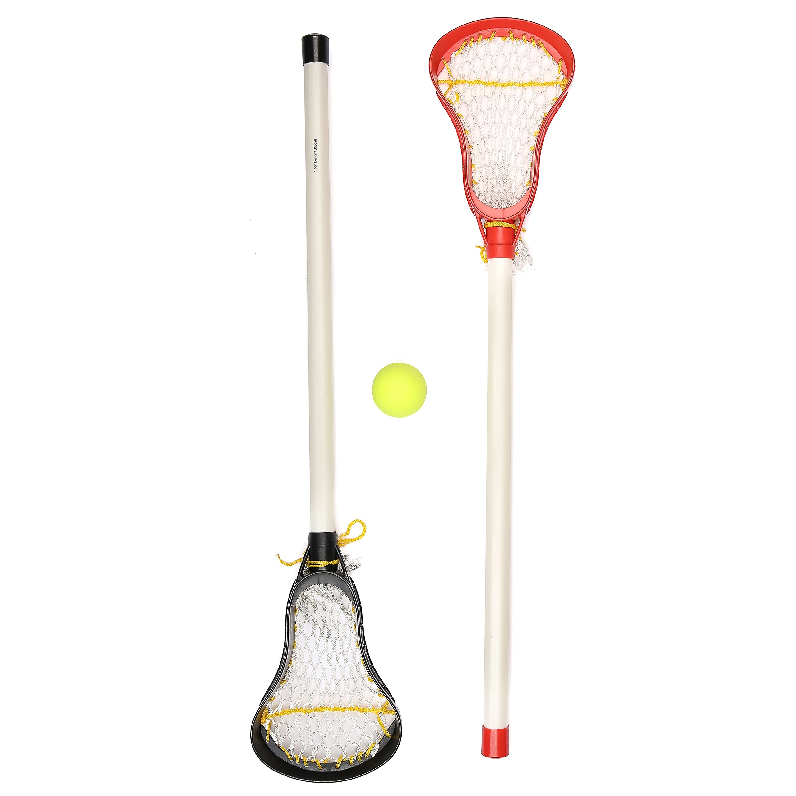 Kids Lacrosse Sticks - 2 Sticks (30 Inches) & 1 Ball - Soft Mesh Pockets, Durable Plastic Handles, & Large Head Design by Junior Lacrosse (Image #5)