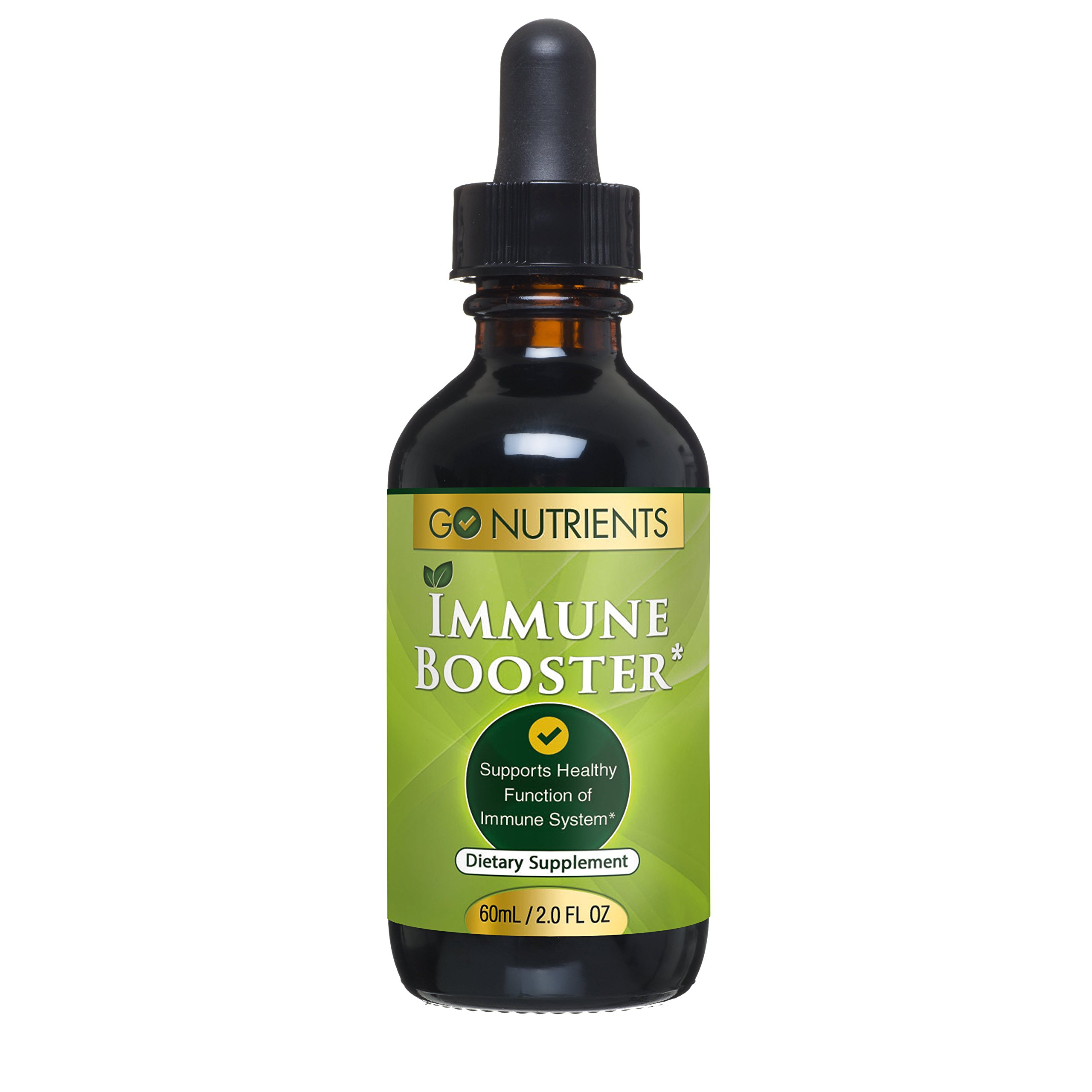Immune Booster with Echinacea Goldenseal - Stimulate & Support Your System Naturally - Liquid Drops - Large 2 oz
