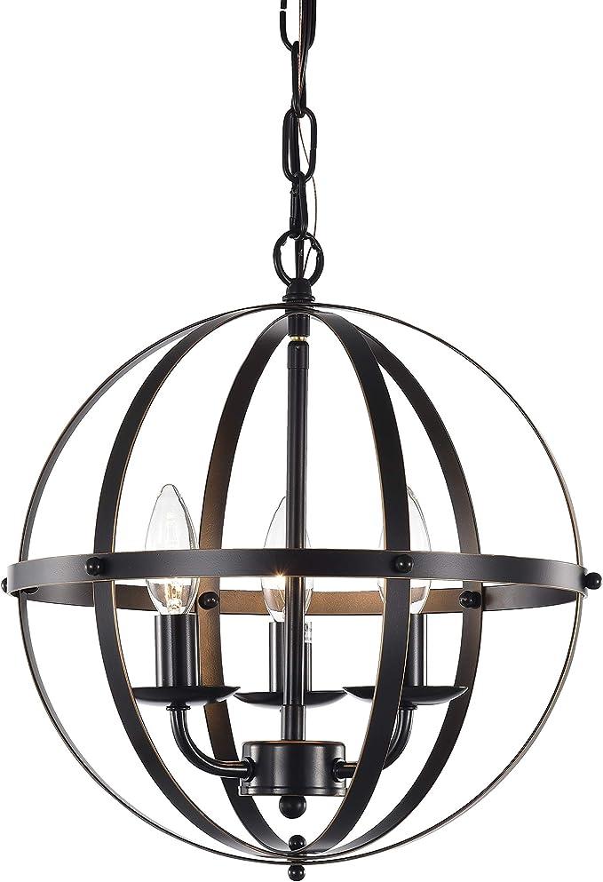 Lamps: Large Orb Chandelier   Iron Globe Chandelier   Clear