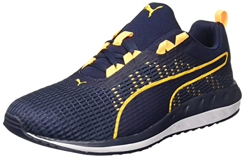 9043567fbfd Puma Men s Flare 2 Dash Peacoat and Ultra Yellow Running Shoes - 10 UK India
