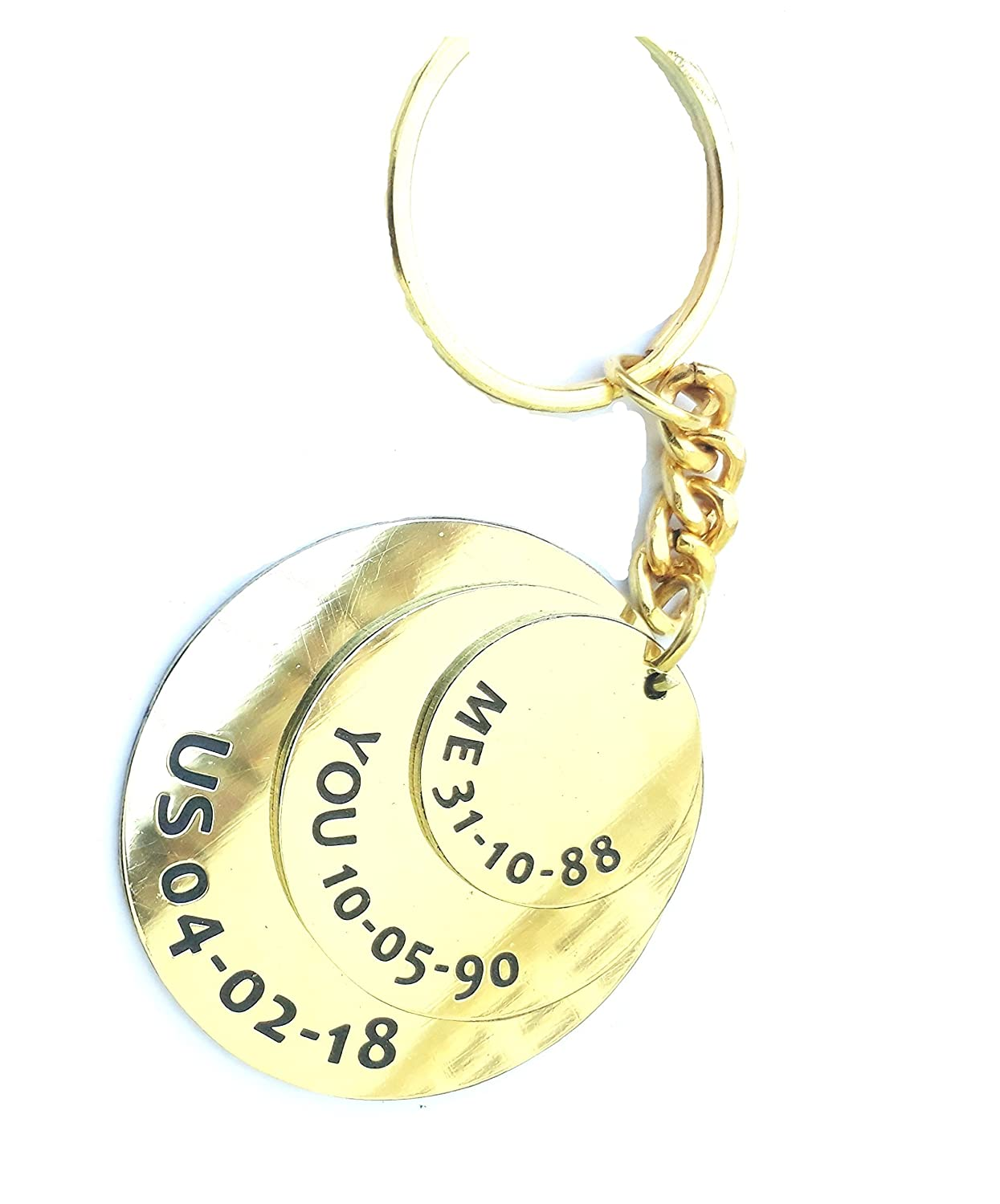 88bf8d8684f9f Smart Galleria Golden Anniversary Gift Customized Date Key Case  Amazon.in   Bags