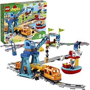 LEGO DUPLO Cargo Train 10875 Battery-Operated Building Blocks Set, Best Engineering and STEM Toy for Toddlers