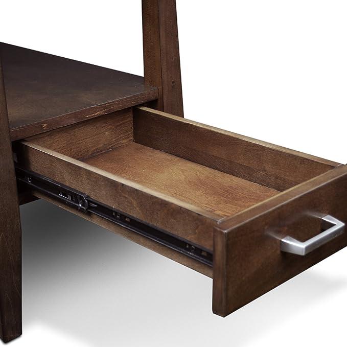 Amazon.com: LEICK Delton chairside mesa auxiliar con cajón ...