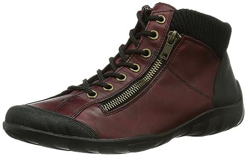 Remonte Womens Boots, Red (Schwarz/Chianti/Schwarz/34), 3.5
