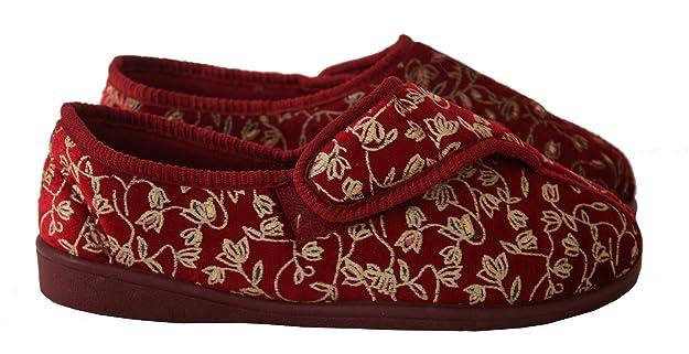 Neu Damen Klettverschlussband Waschmaschinenfest Weite Passform Diabetiker  Orthopédique Pantoffeln Schuhe UK Größen 3-8: Amazon.de: Schuhe &  Handtaschen
