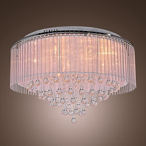 LightInTheBox Modern Crystal Flush Mount Ceiling Light Lighting ...