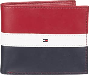 Tommy Hilfiger Mens Leather Wallet - RFID Blocking Slim Thin Bifold with Removable Card Holder and