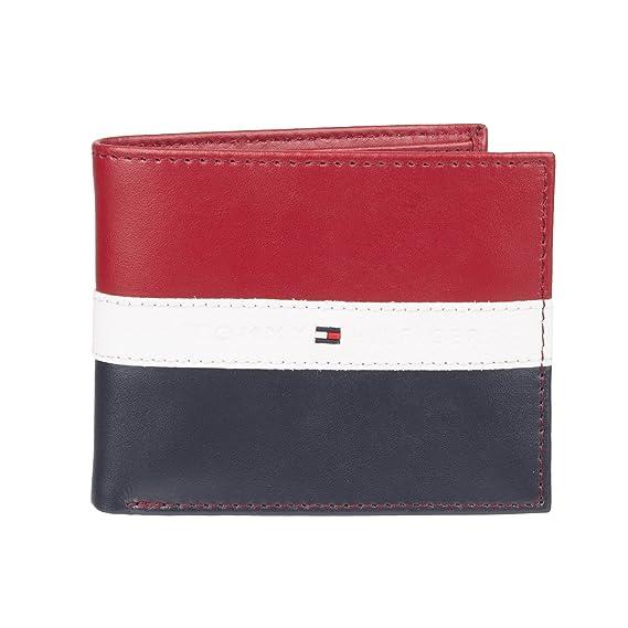 pretty nice 33c1b 15e8c Tommy Hilfiger Men's Leather Americana Stripe Bifold Wallet