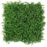 """ULAND Artificial Topiary Hedges Panels, Plastic Faux Bushes Shrubs Grass Wall Backdrop, Greenery Privacy Screen Fence, Pack of 6pcs 20""""x20"""""""
