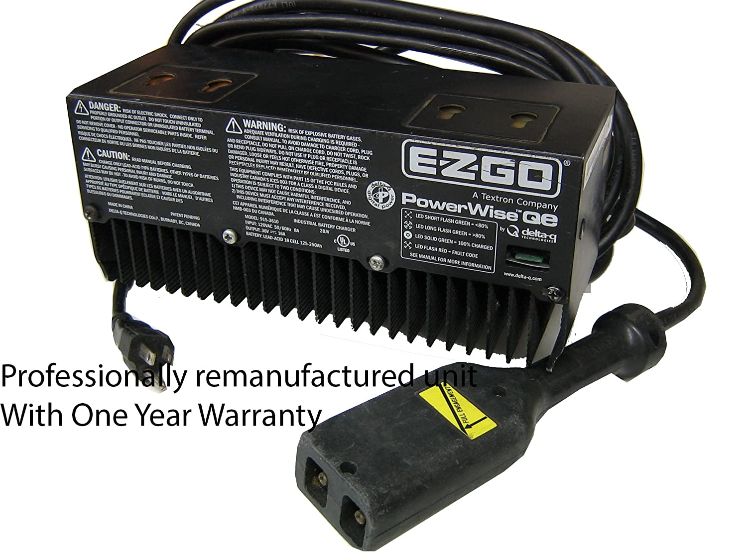 Amazon.com : EZ-GO 915-3610 Battery Charger 36V Powerwise Qe G3610 : Sports  & Outdoors